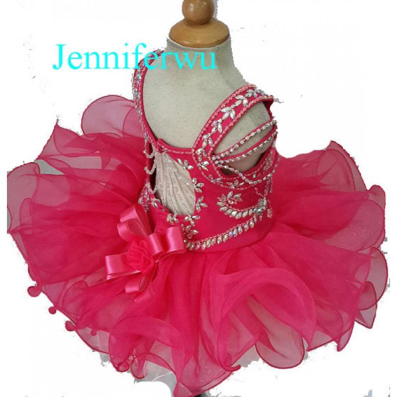 Infant//toddler//kids//baby//children Girl/'s Glitz Pageant Dress 1-6T G123-1